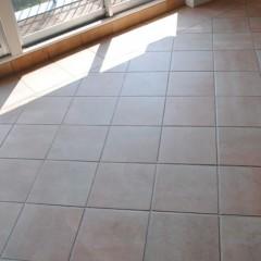 床材のテラコッタはリノベ前の既存をそのまま残しました。秀和のイメージに合っていますね。
