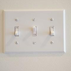 スイッチ類はアメリカン・プレート・スイッチで統一しました。