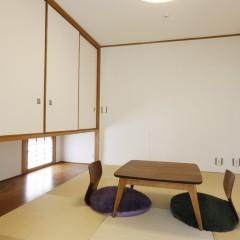 元々和室だったお部屋はそのまま和室として改装。お子様がいる何かと重宝します。