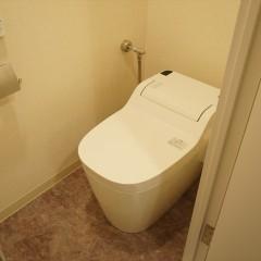 そしてトイレも白基調。タンクレストイレを採用しました。