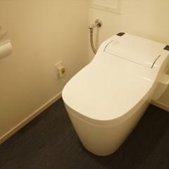 こちらはトイレです。パナソニックのタンクレストイレです。