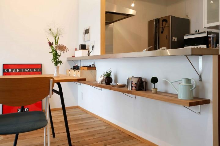 キッチン キッチン diy 棚 : キッチンカウンターの下、どう ...