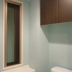 トイレは既存を活かしつつ、壁だけ塗装し生まれ変わりました。