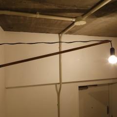 こちらの玄関照明は、すべて施主様の手作りです。