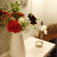 いつもお花が飾られている素敵なお家でした。