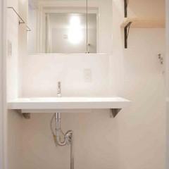 洗面はオープンスペースに。