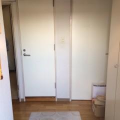 施工前①玄関入ってすぐの2枚並んだドア。
