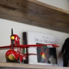 約1年待ちだったという飛行機の模型・・・一つ一つにこだわりを感じる部分。