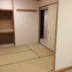 施工前③ この和室をつぶしてリビングと繋げています。