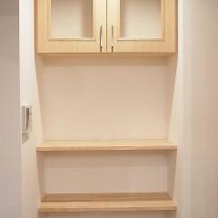 キッチン周りを使いやすくするため、ちょっとのスペースも活かします。